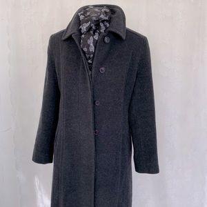 Vintage Wool Alpaca Mohair Long Winter Coat